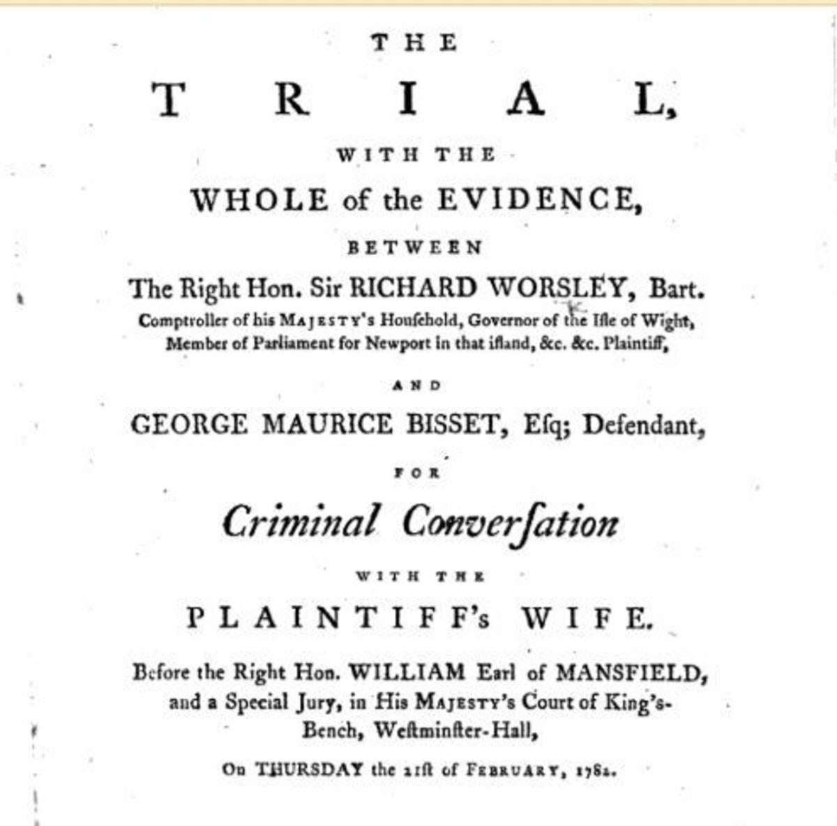 Worsley Trial, Crim Con