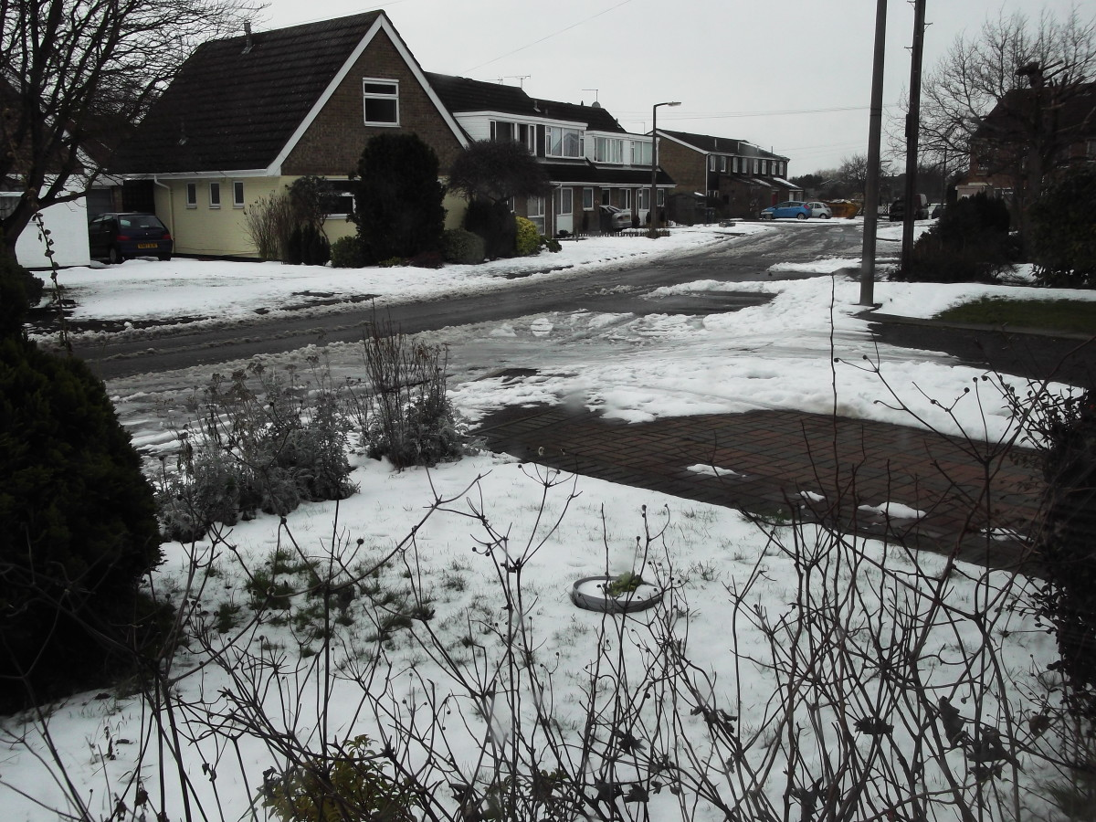 The Village under snow. Long range weather UK failed again.