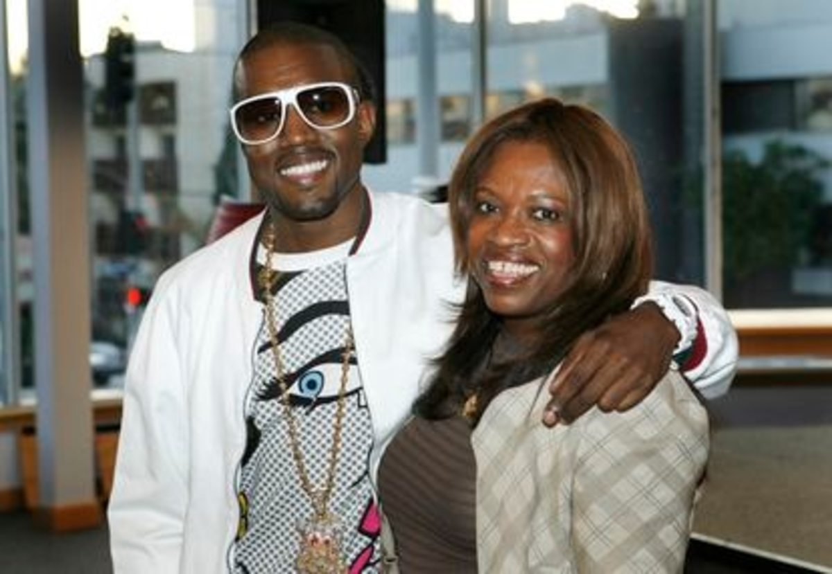 Kanye West and his monther, Donda West.