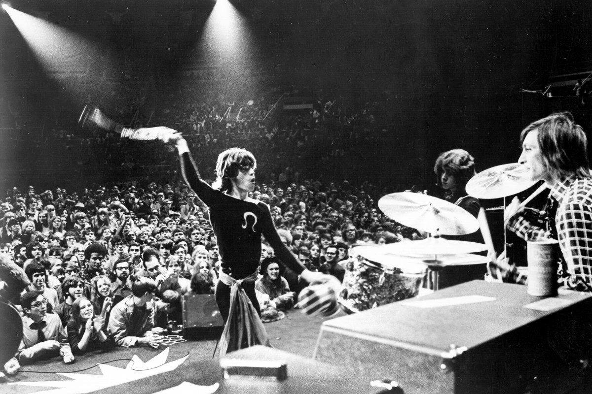 The Stones on tour in 1969.