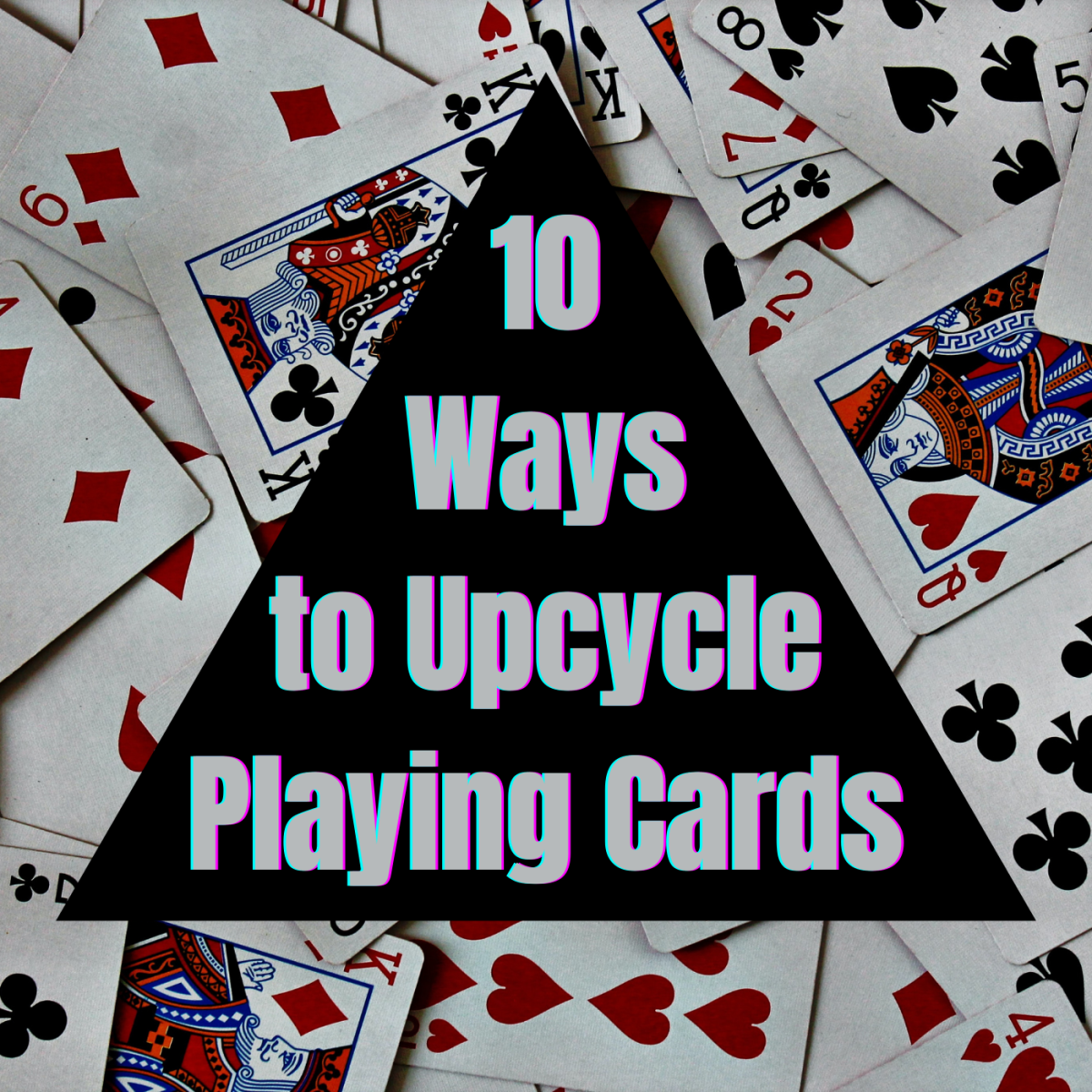 Here are ten ways to upcycle old playing cards.