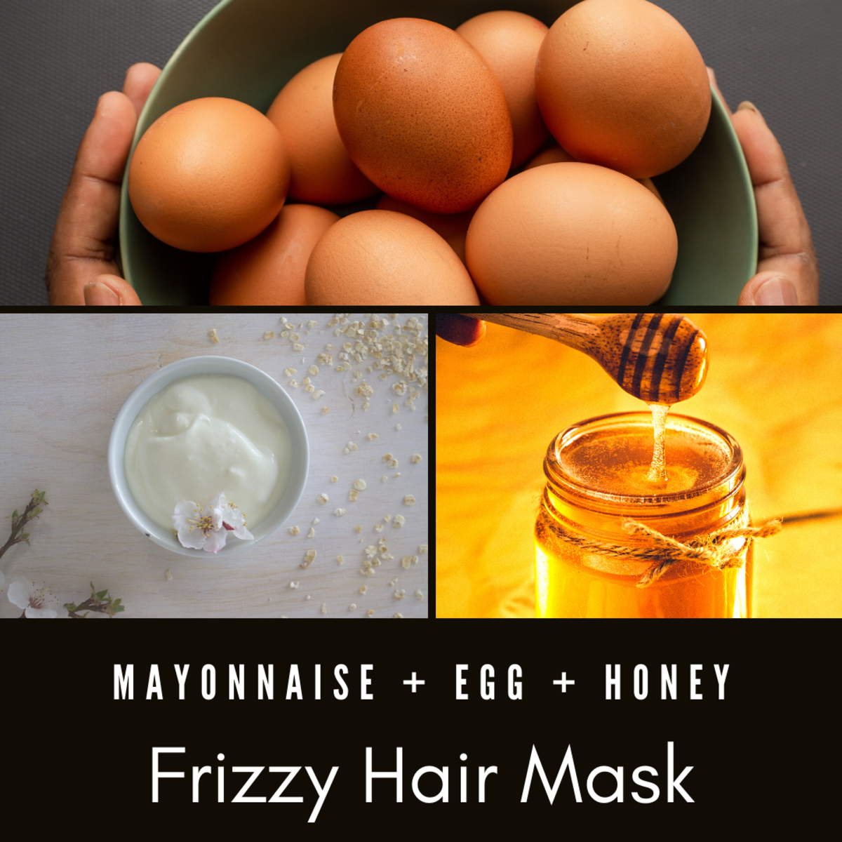 Fend off frizz with this mayo, egg, and honey hair mask!
