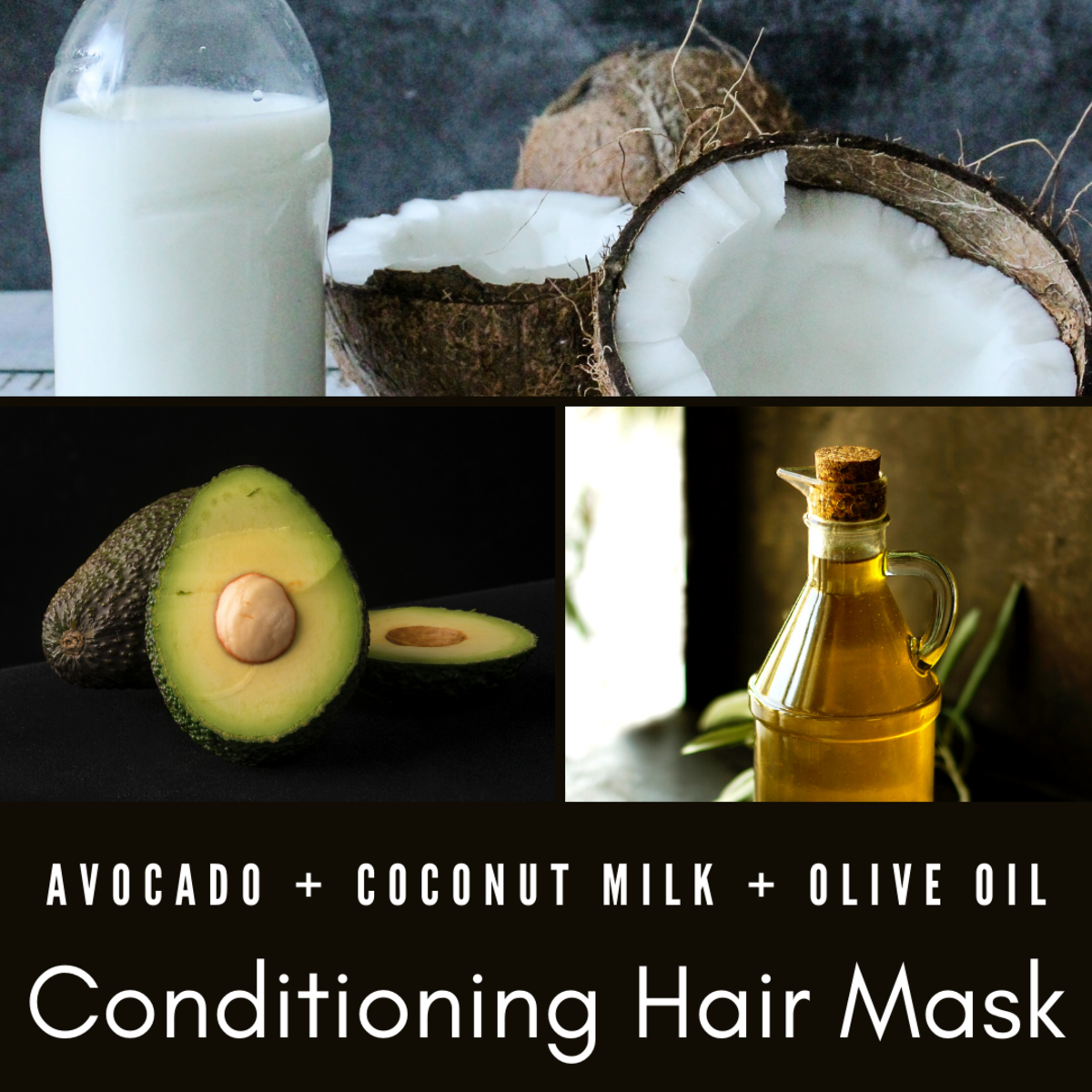 Combine avocado, almond oil, and coconut milk for a hair mask that'll help keep your locks smooth.