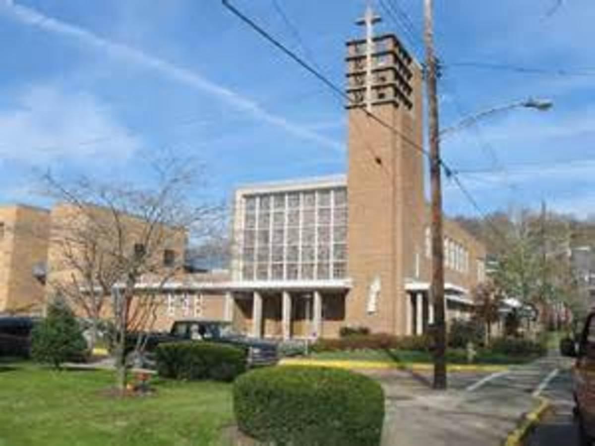 St. Scholastica Church built in 1950;s