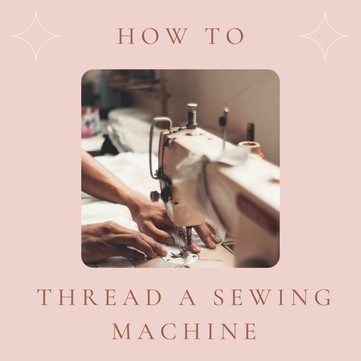 Threading a sewing machine is easier than you think.