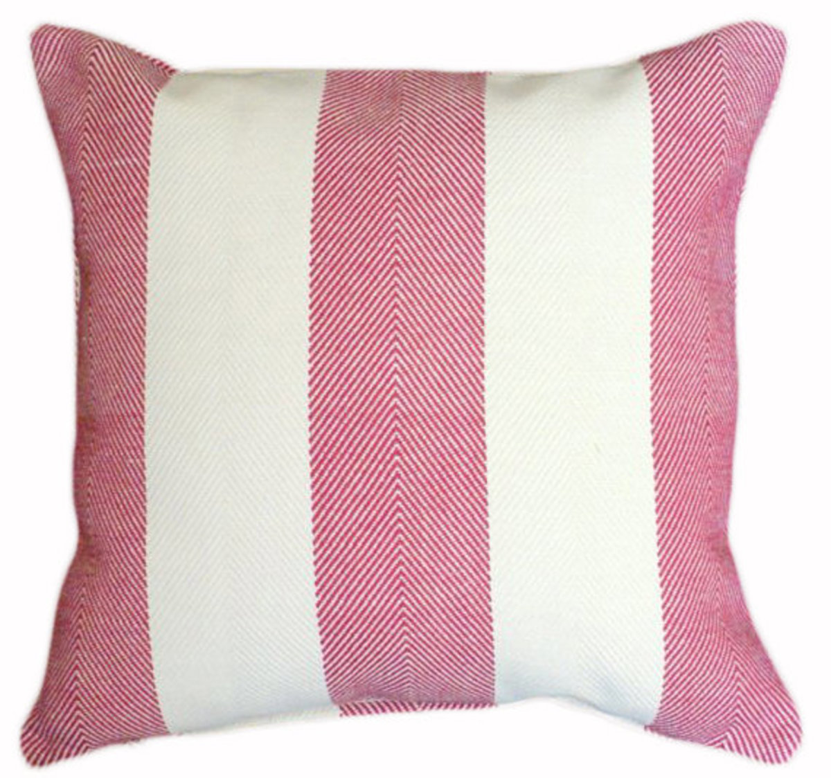 Classic Herringbone Red and White Striped Pillow 18x18