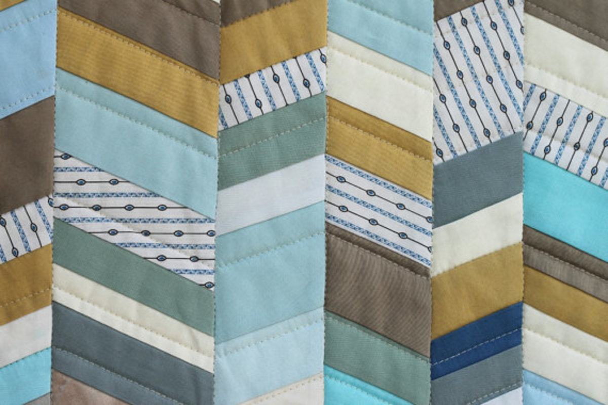 the Herringbone runner quilt pattern