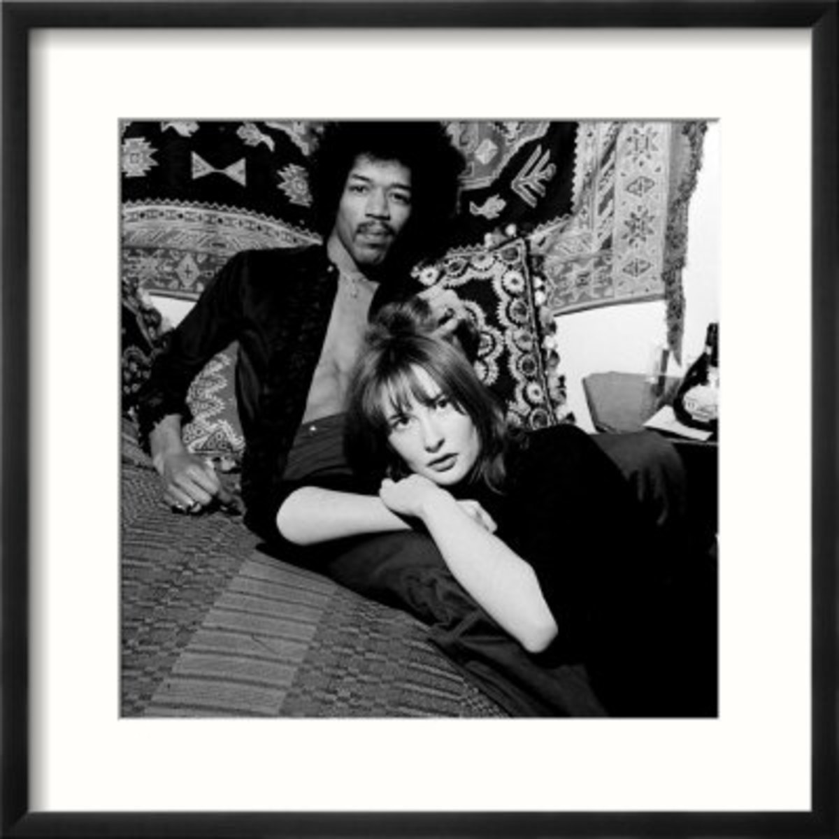 Jimi with long-time girlfriend Kathy Etchingham