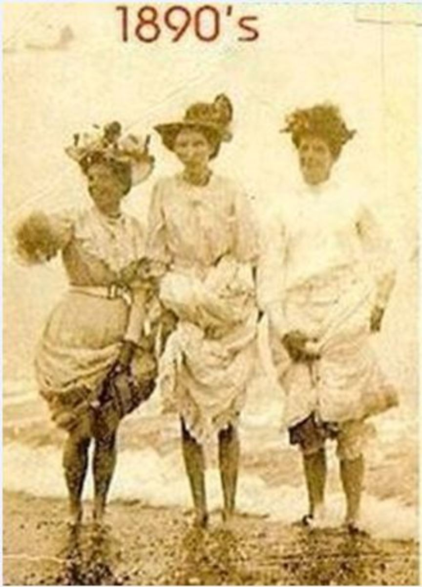 Women at the beach in Maud's time.