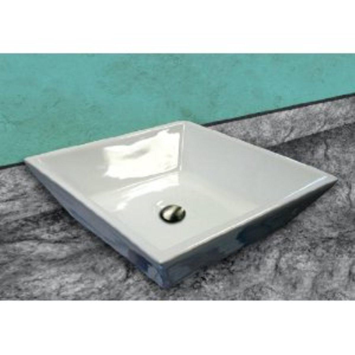 A contemporary bathroom sink