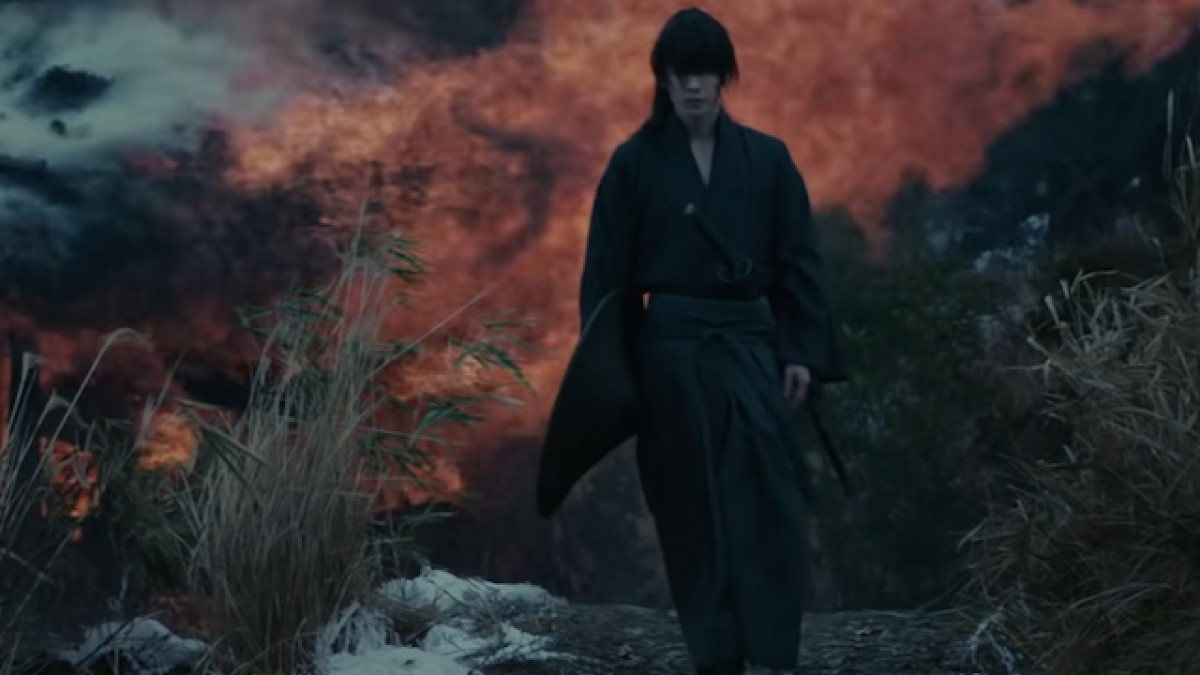 Courtesy of Netflx and Warner Bros. Kenshin Himura during the Boshin War.  He was 15 at the time.