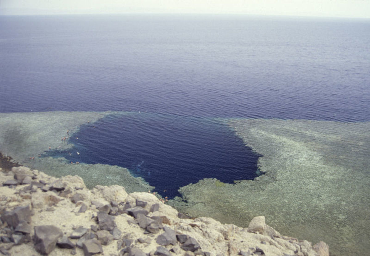 Blue Hole in Red Sea.