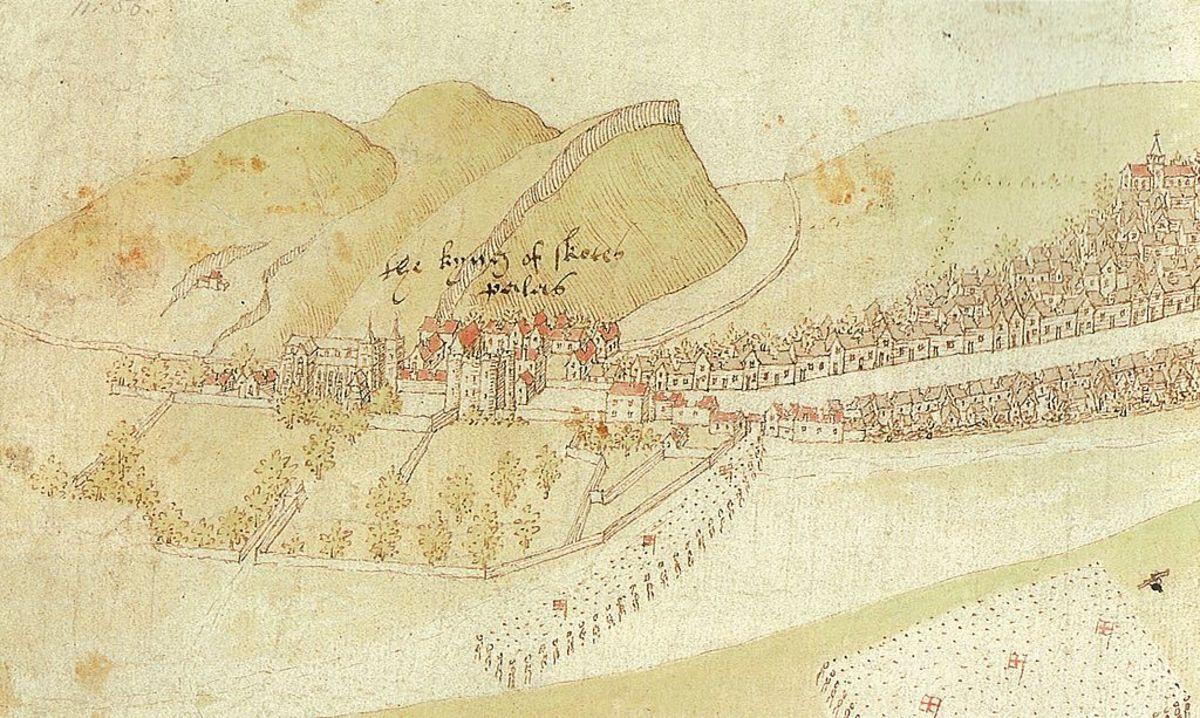 Palace of Holyroodhouse, circa 1544.