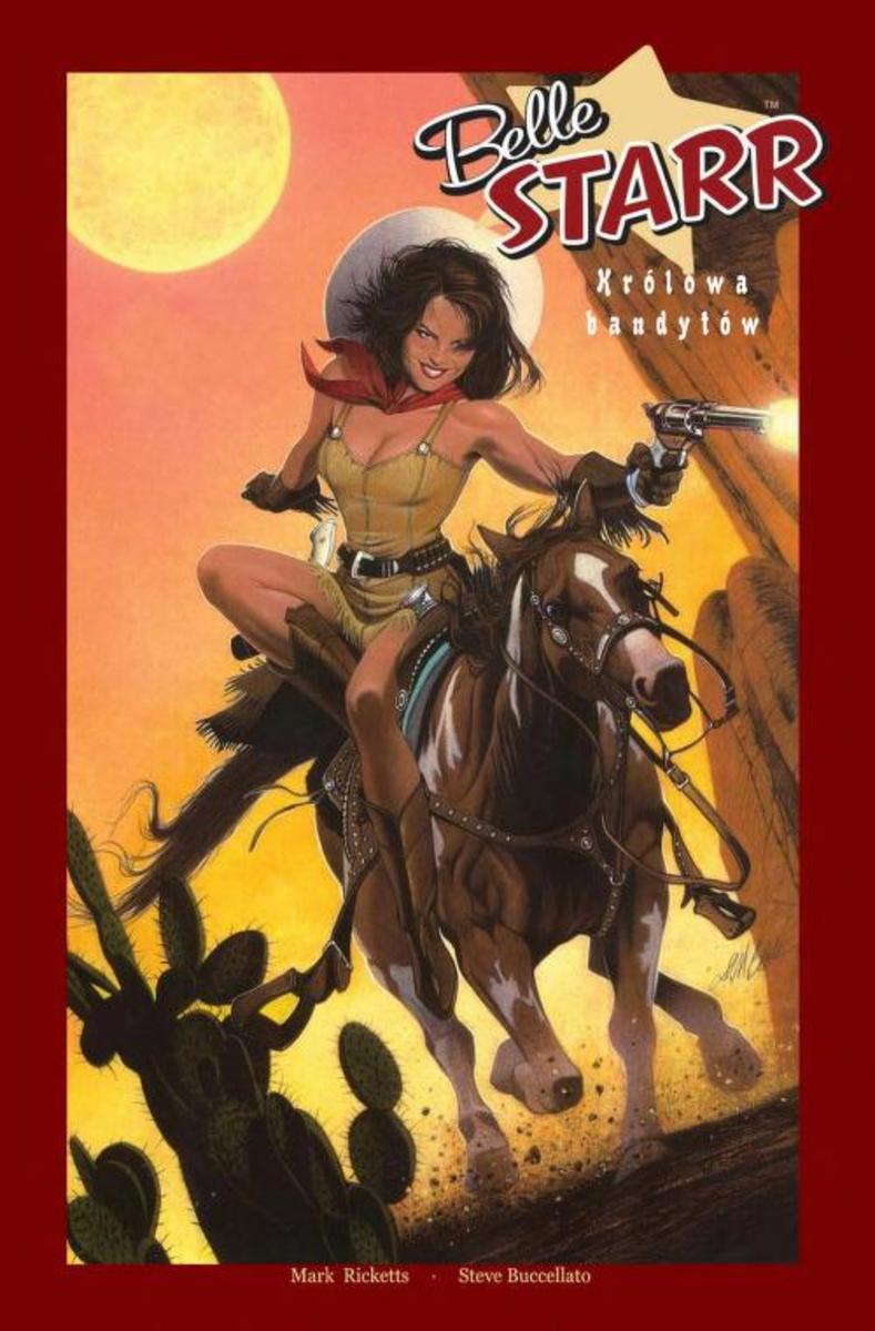 Belle Starr shown in a slightly unauthentic costume.