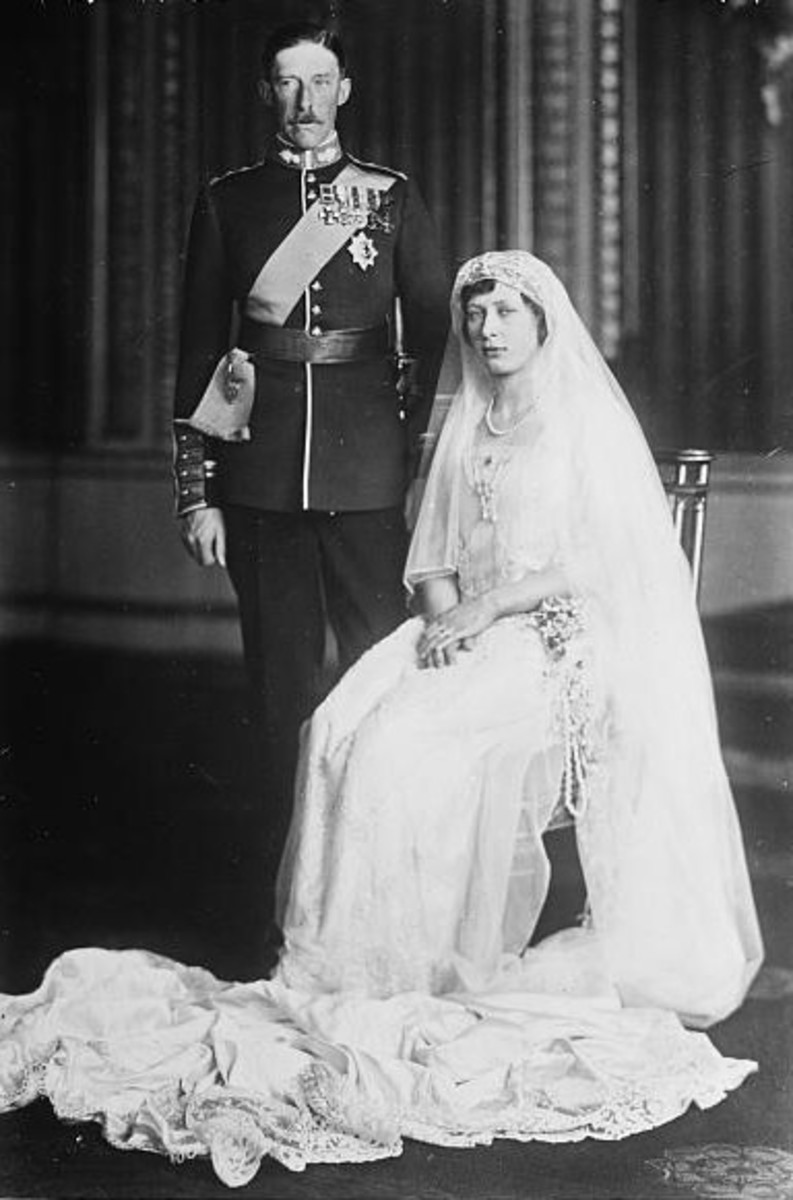 Mary and Harry, Viscount Lascelles on their wedding day.