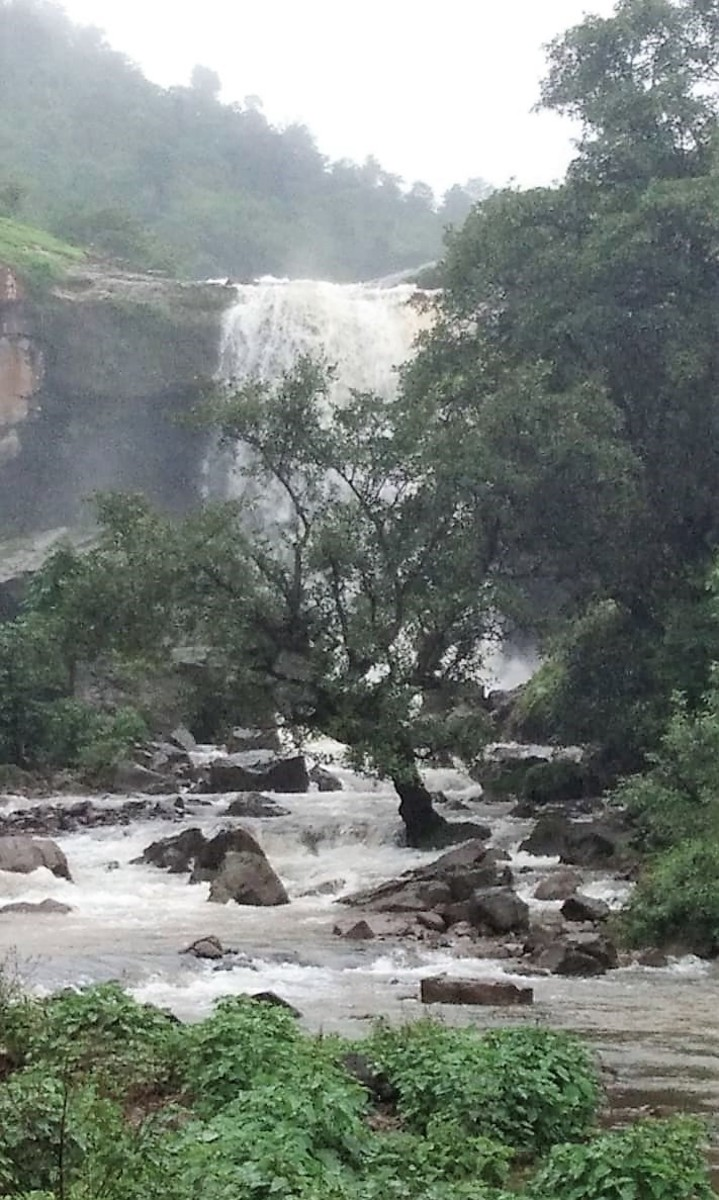 Amidst The Wet Nature - A Waterfall At Bahuli, Igatpuri.