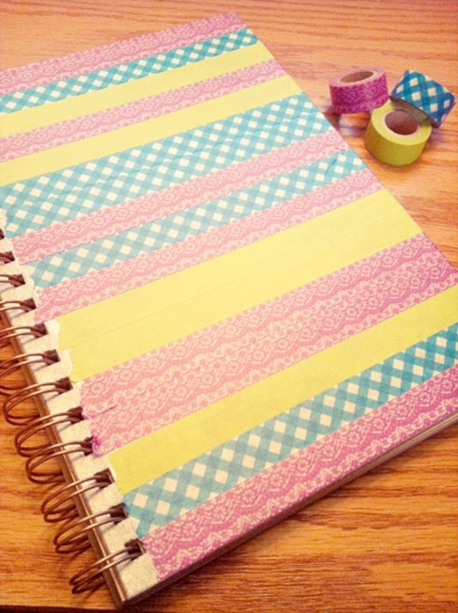Washi Tape is so much to use on Journal covers