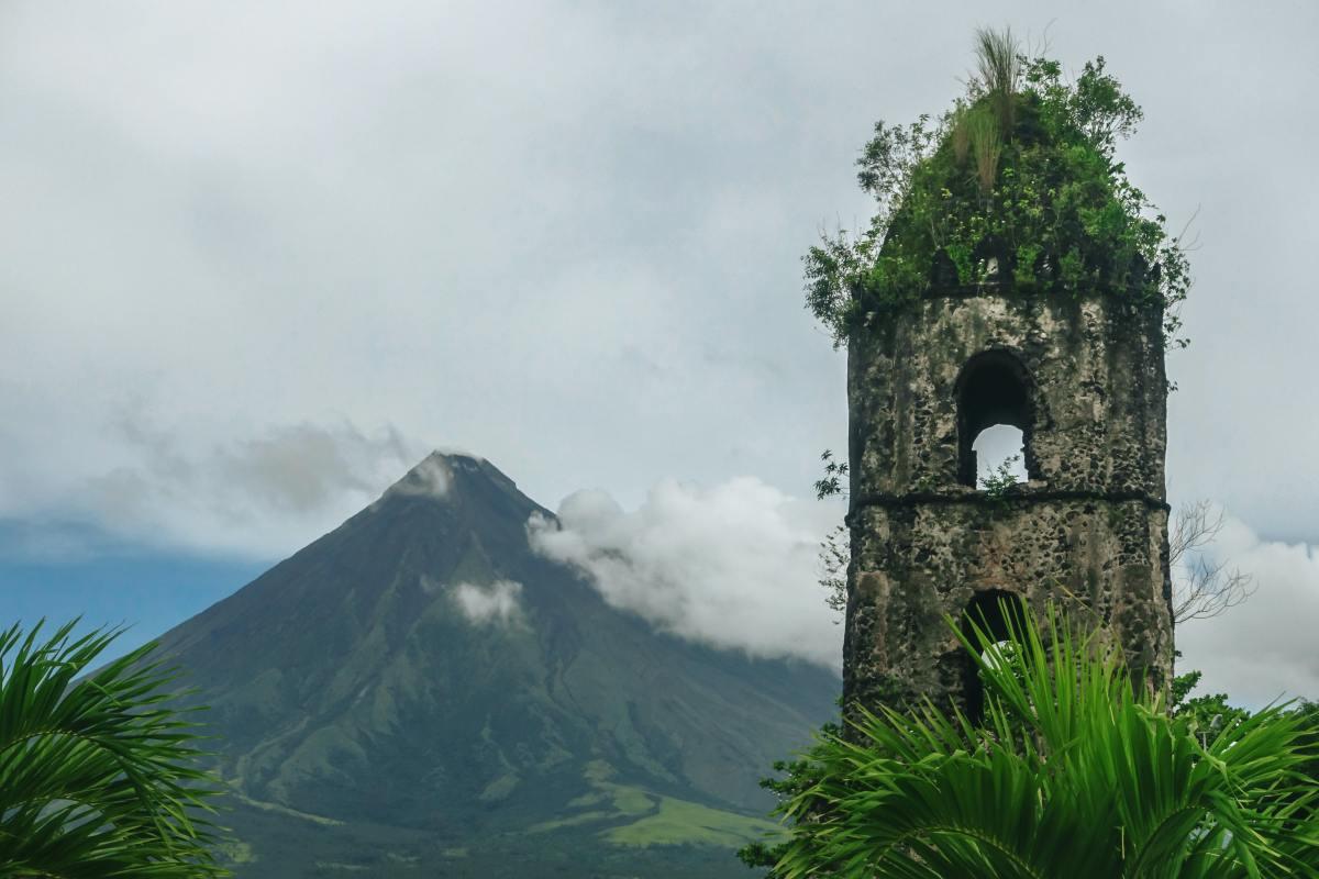 Cagsawa Ruins, Legazpi, Philippines