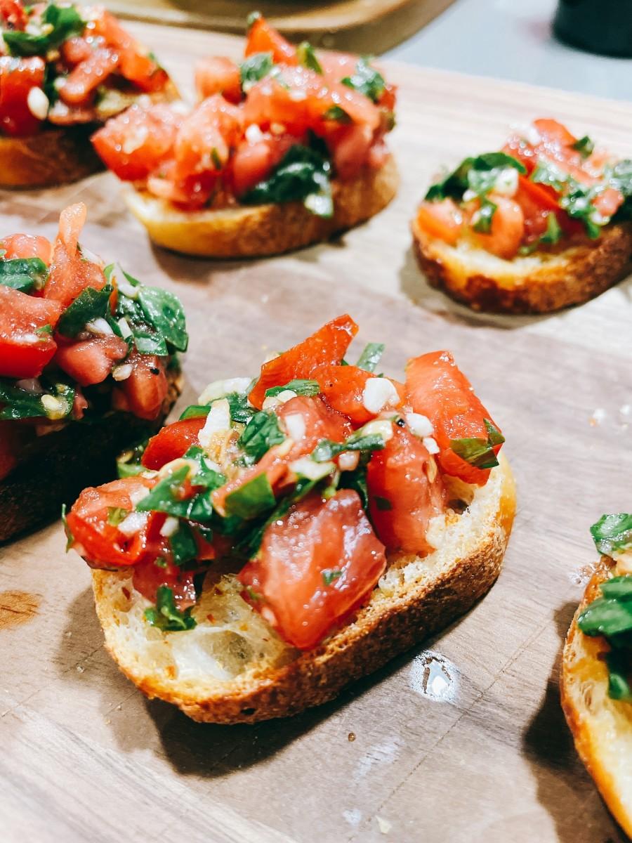 Fresh ingredients make the best bruschetta.