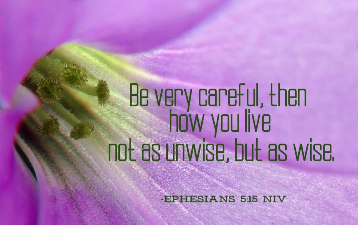 Be very careful.