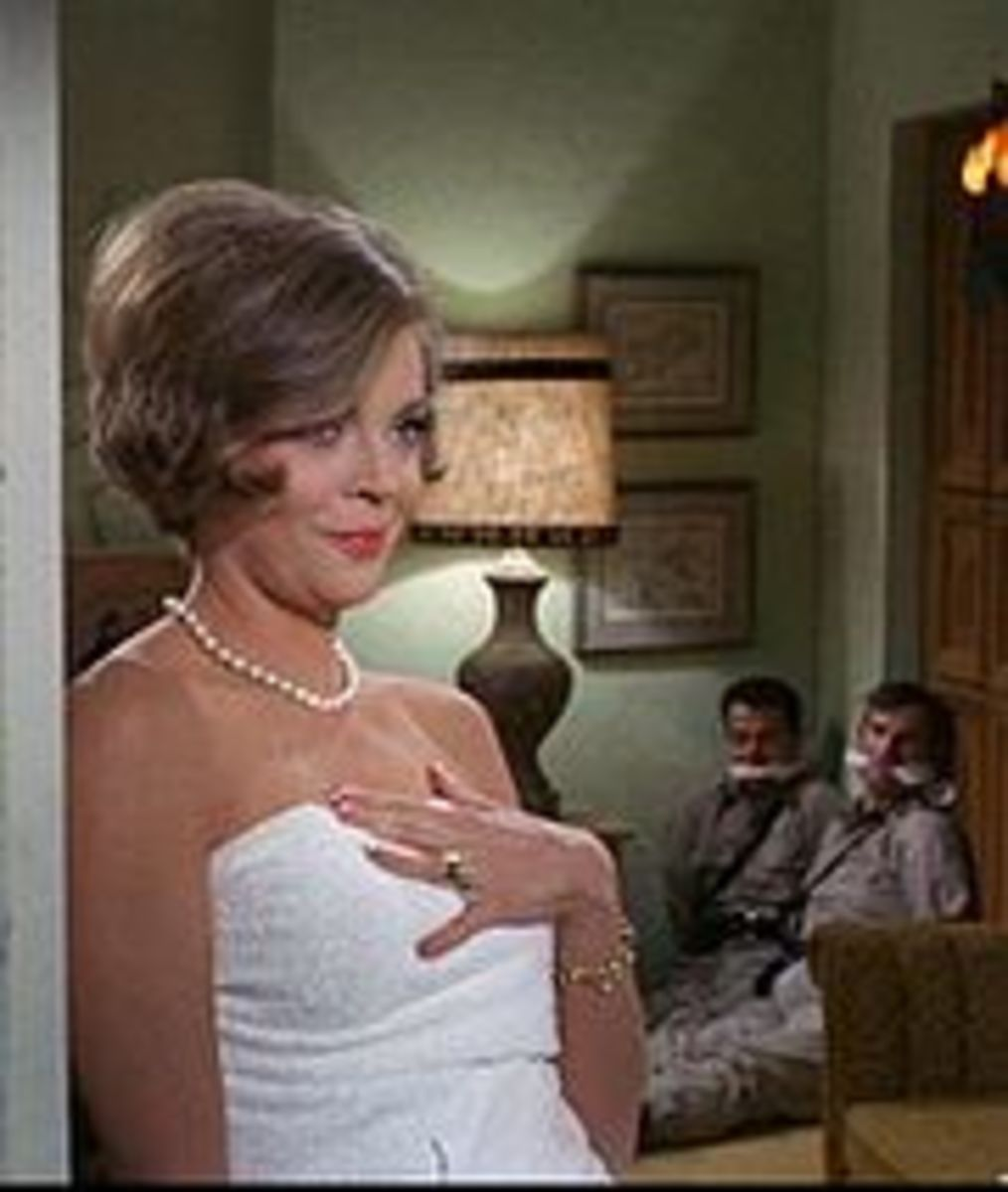 """""""The sultry secret agent Cinnamon Carter could _______  almost any man."""""""