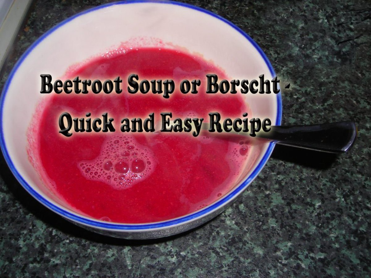 Beetroot Soup or Borscht - Quick and Easy Seasonal Recipe