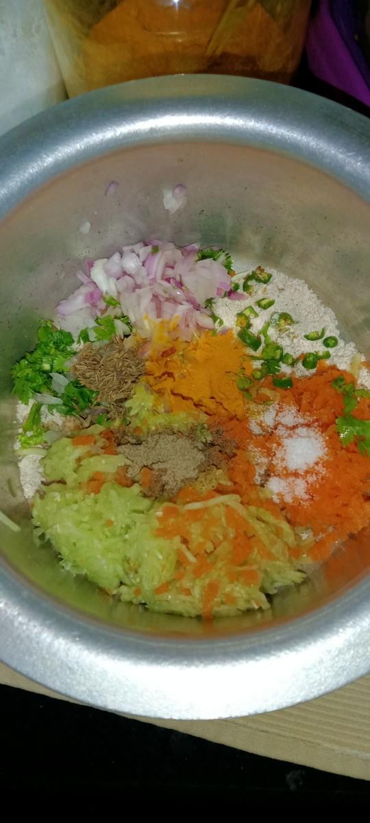 Add turmeric powder, cumin seeds, black pepper powder and salt.