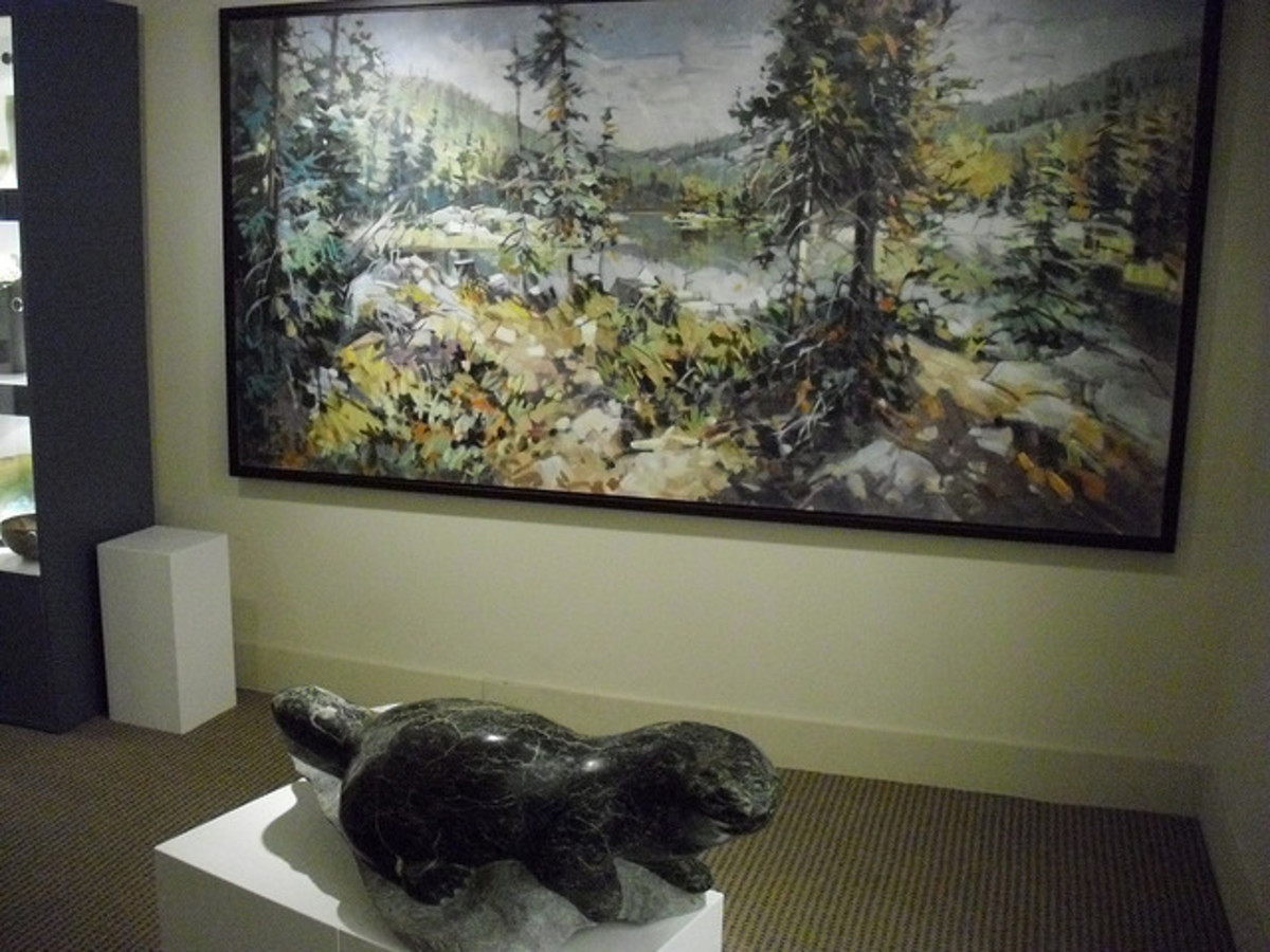 More artwork on display at the Banff Springs Hotel.