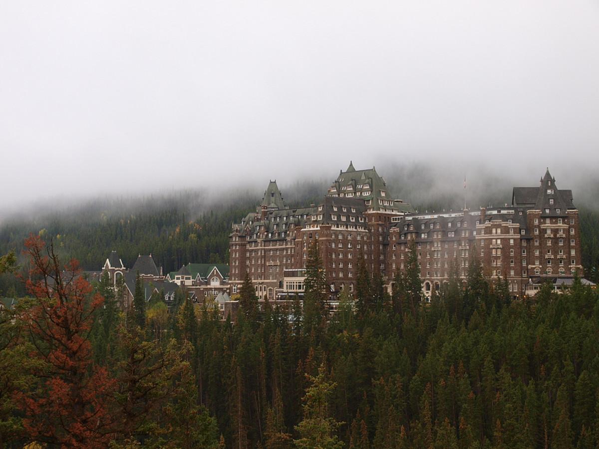 The beautiful Banff Springs Hotel.