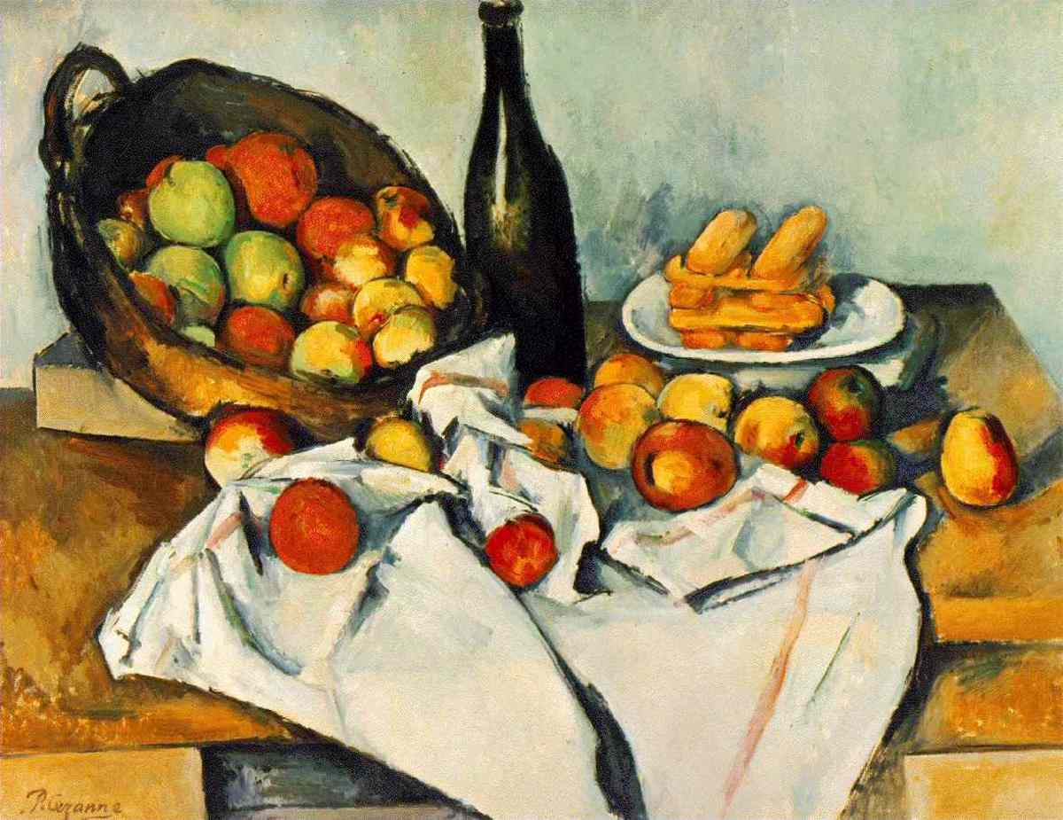 Paul Cezanne - Still Life with Basket of Apples Oil on Canvas (1894)