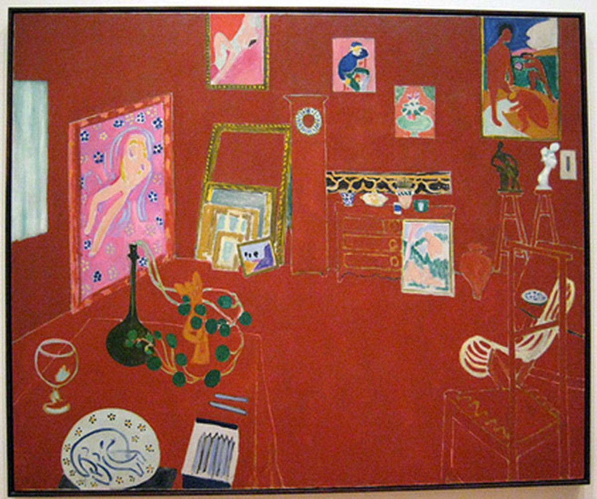 Henri Matisse- The Red Studio Oil on Canvas (1911)
