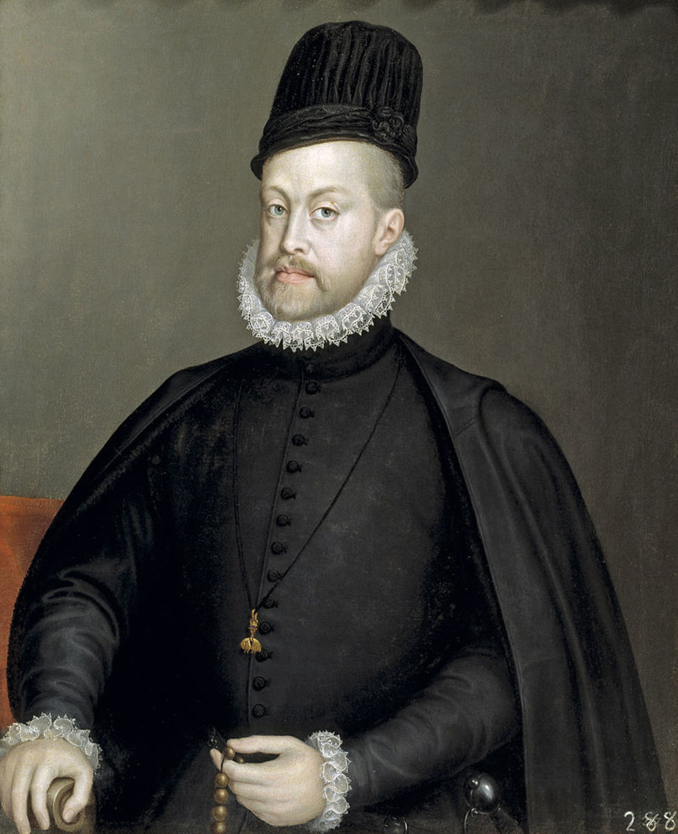 King Phillip II of Spain. He presumably preferred to remember the English Armada instead of the Spanish Armada.