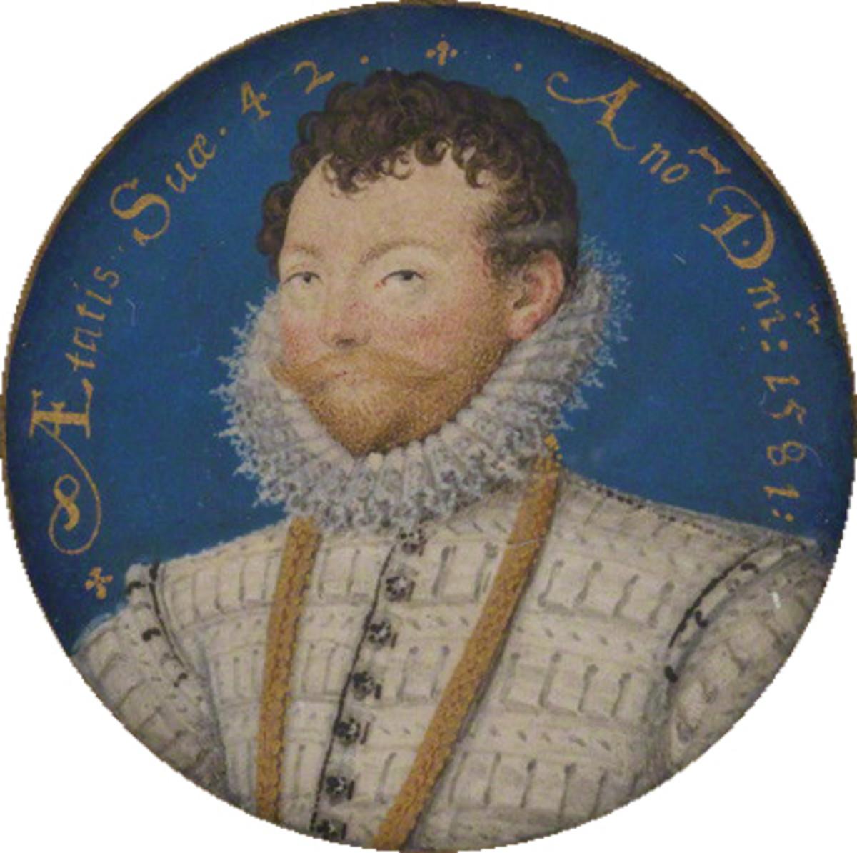Sir Francis Drake by Nicholas Hillyard circa 1581.