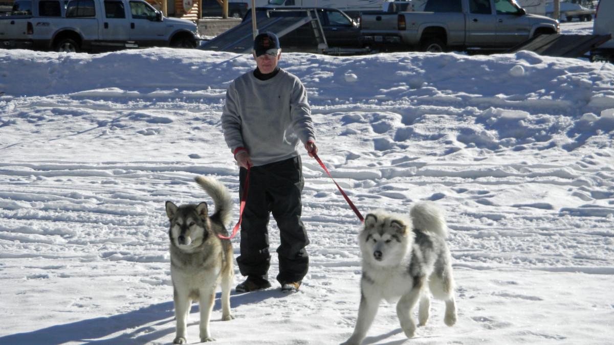 Denaya and Griffin snowshoeing