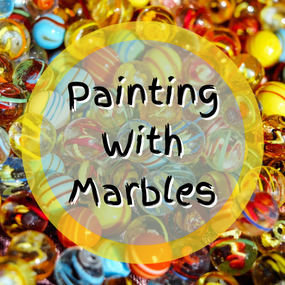 Learn how to create unique painting with marbles using this easy, step-by-step tutorial!