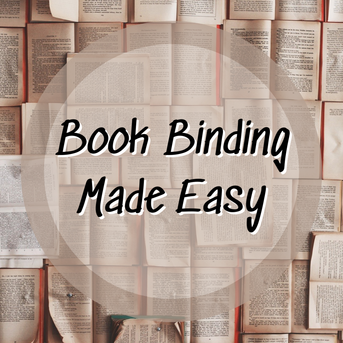 This step-by-step tutorial teaches you how to bind a manuscript!