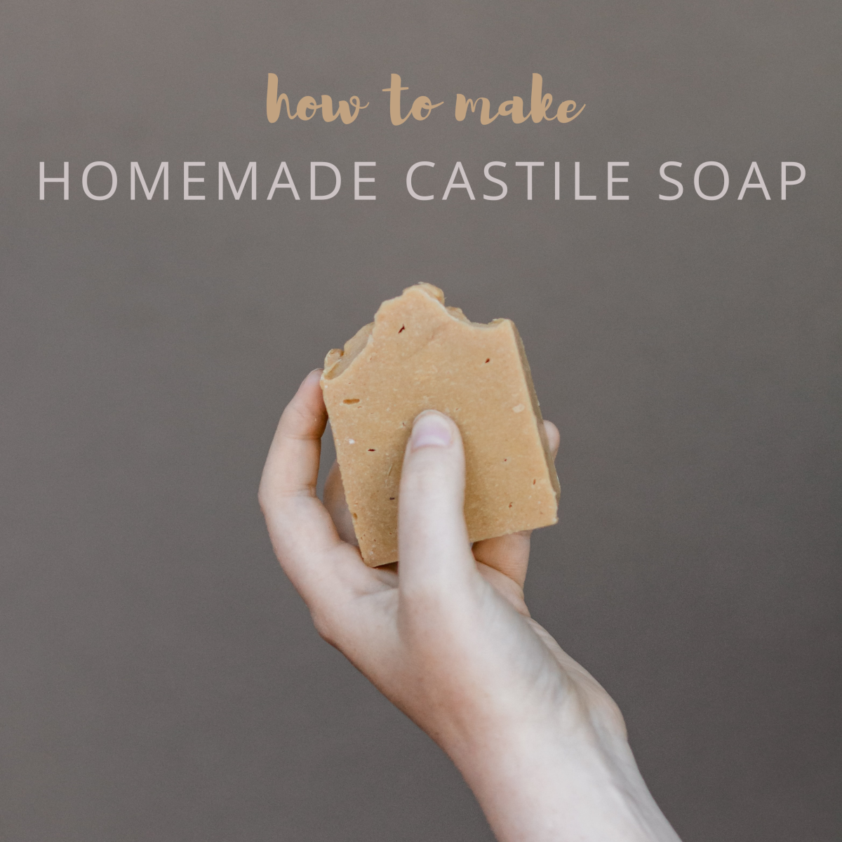 How to make homemade Castile soap: bars, liquid, and with various types of oils, including lard.