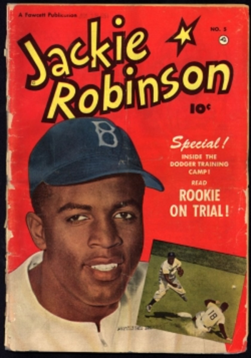 Jackie Robinson comic book, pub. 1951, copyright not renewed.