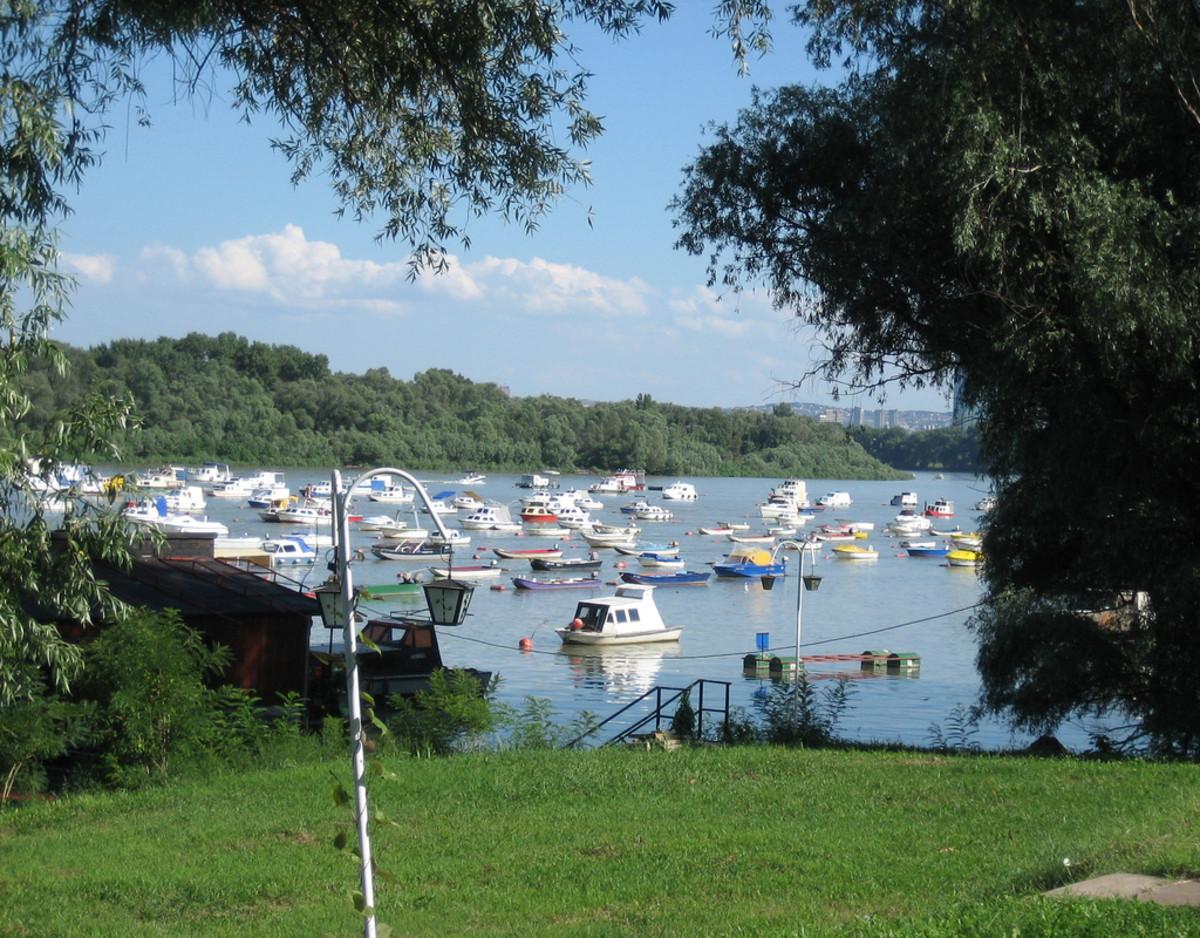 Boats in the marina Zemun
