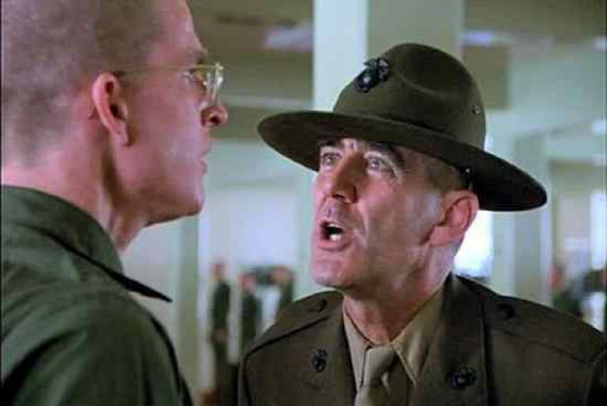 """I am Gunnery Sergeant Hartman, your Senior Drill Instructor. From now on you will speak only when spoken to, and the first and last words out of your filthy sewers will be ""Sir"". Do you maggots understand that?"""