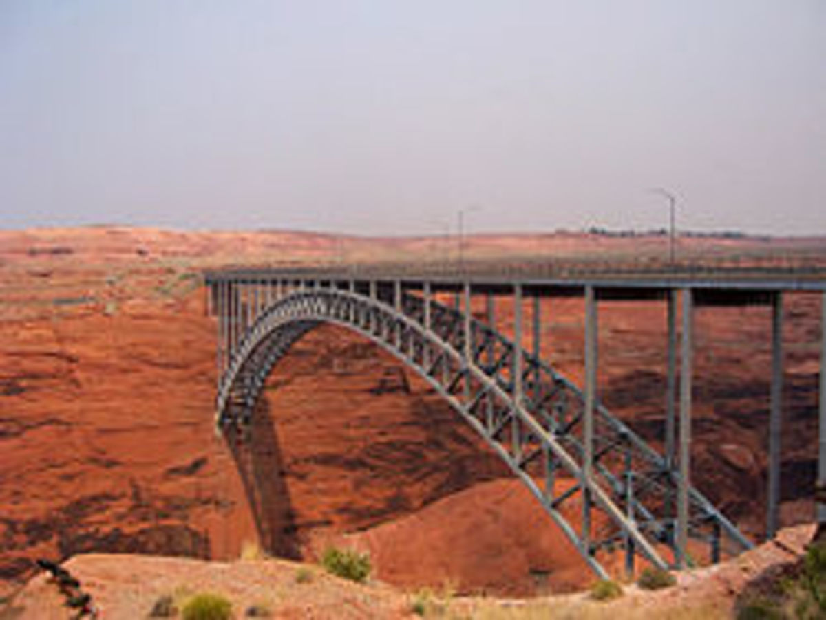 The Glen Canyon Bridge or Glen Canyon Dam Bridge is a steel arch bridge in Coconino County, Arizona.