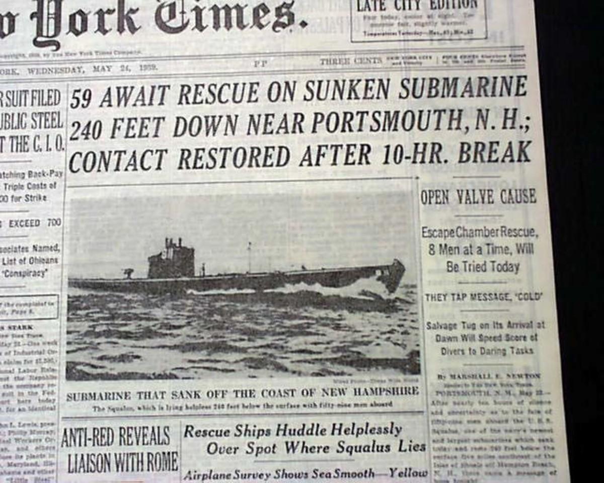 USS Squalus Submarine Rescue
