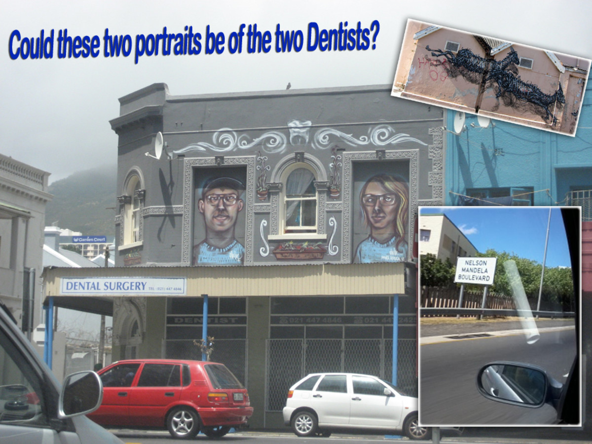 Could these two portraits be of two Dentists?   Photo was taken near the Woodstock exchange building at 66 Albert Rd