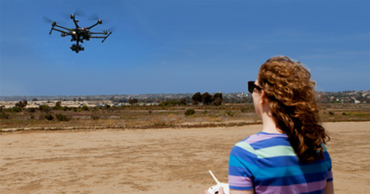 Anyone can fly a drone.