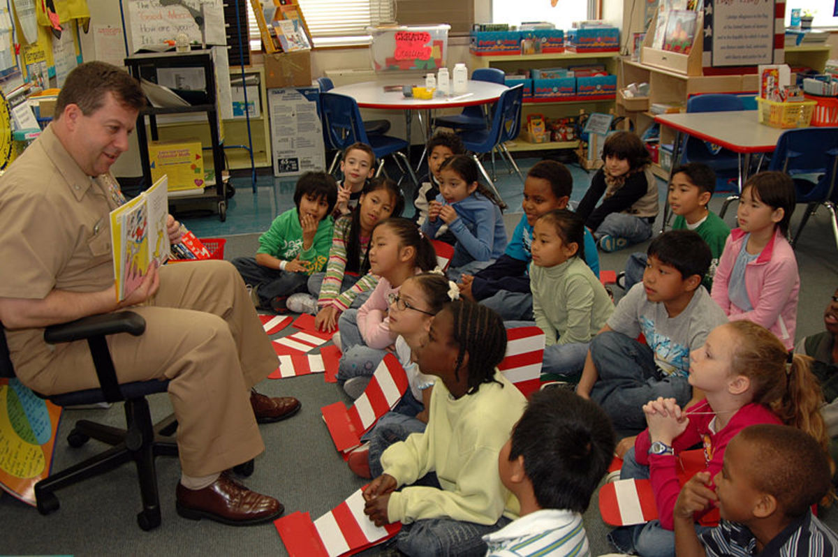 Reading poetry to young children