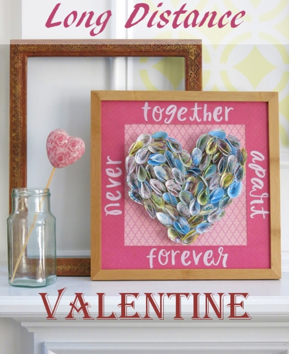 DIY Craft Tutorial:  Heart Valentine for Long Distance Relationship