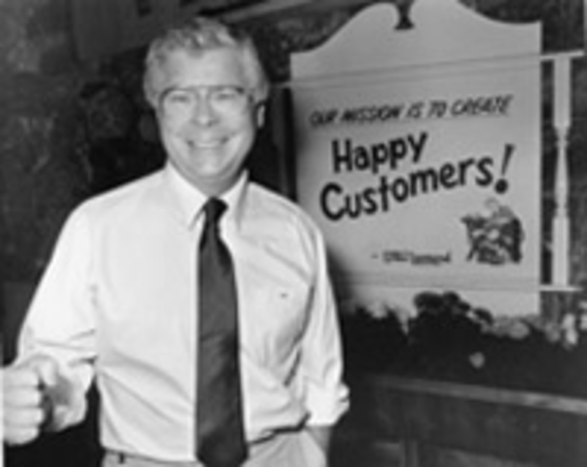 Stew Leonard Sr. at his store in Norwalk, Connecticut