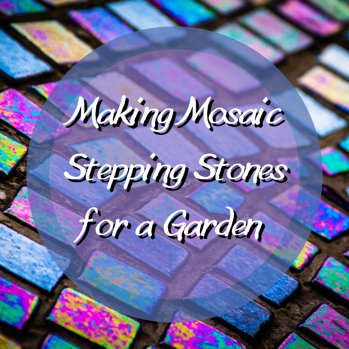 Learn how to create your own mosaic stepping stones to decorate your garden!