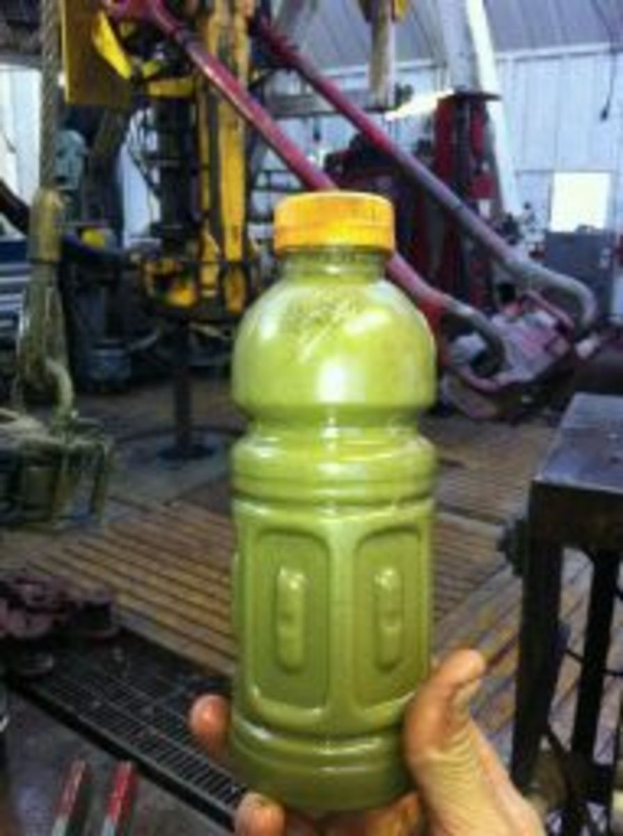 when coming right out of the ground, oil from the Bakken can sometimes be green.