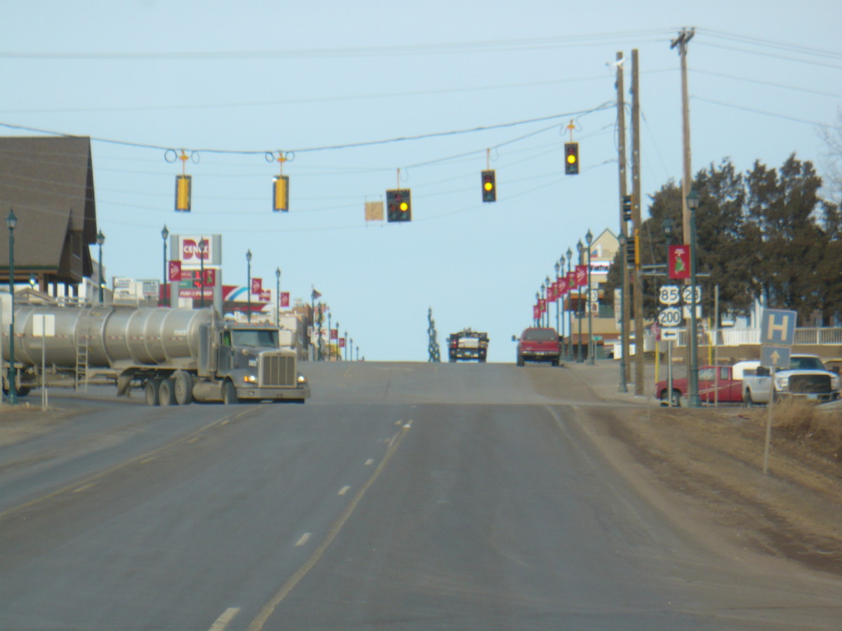 I never thought I would see the day - traffic lights coming into Watford City from Highway 85 South.